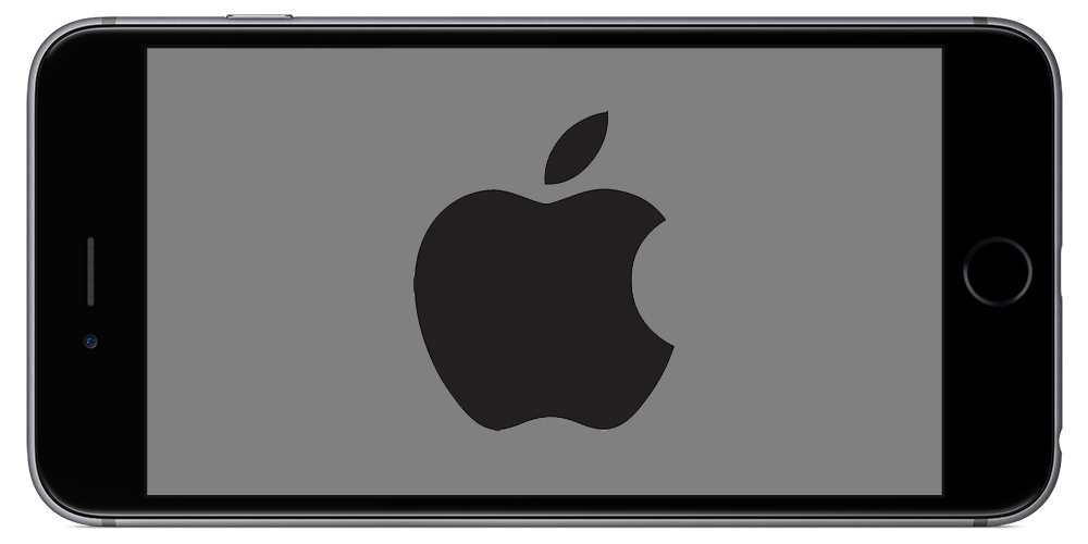 iphone 6s with logo